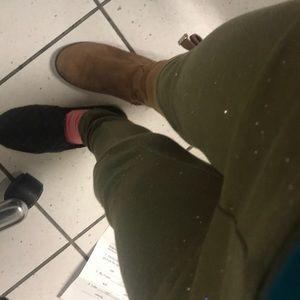 Girls dark green pants size 7/8